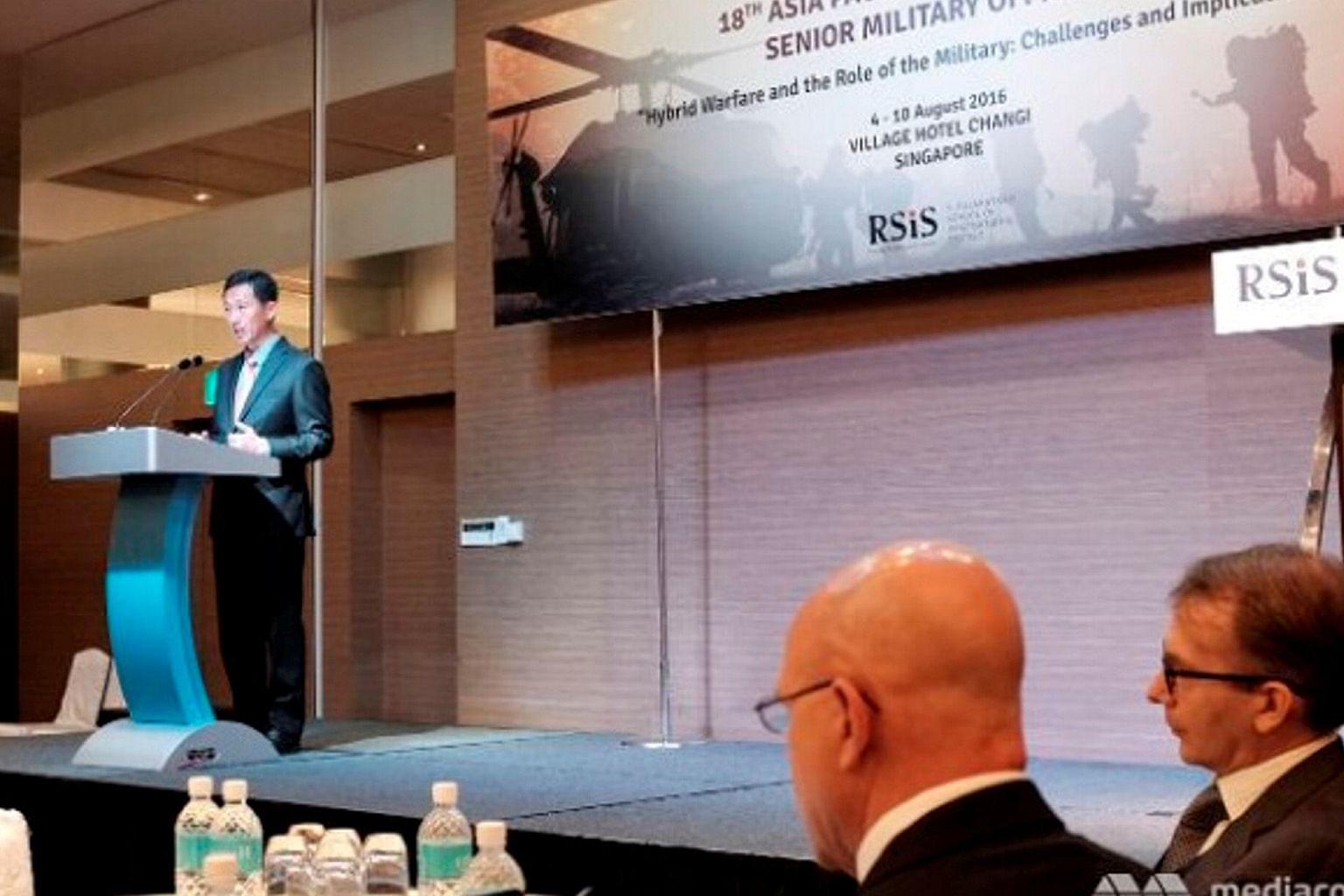 Ye Kung: Serangan hibrid ciri perang hari ini dan masa depan