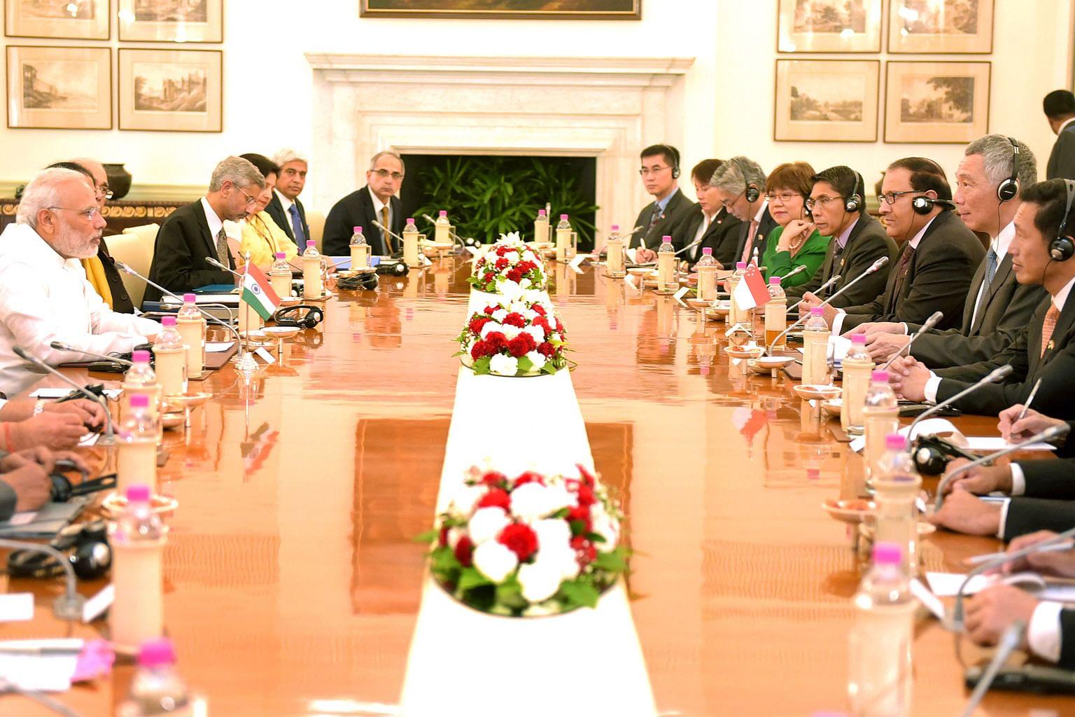 LAWATAN PM LEE KE INDIA S'pura, India meterai MOU tubuh pusat kemahiran
