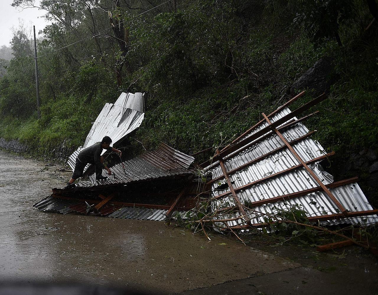 Laluan kemusnahan di utara Filipina TAUFAN HAIMA