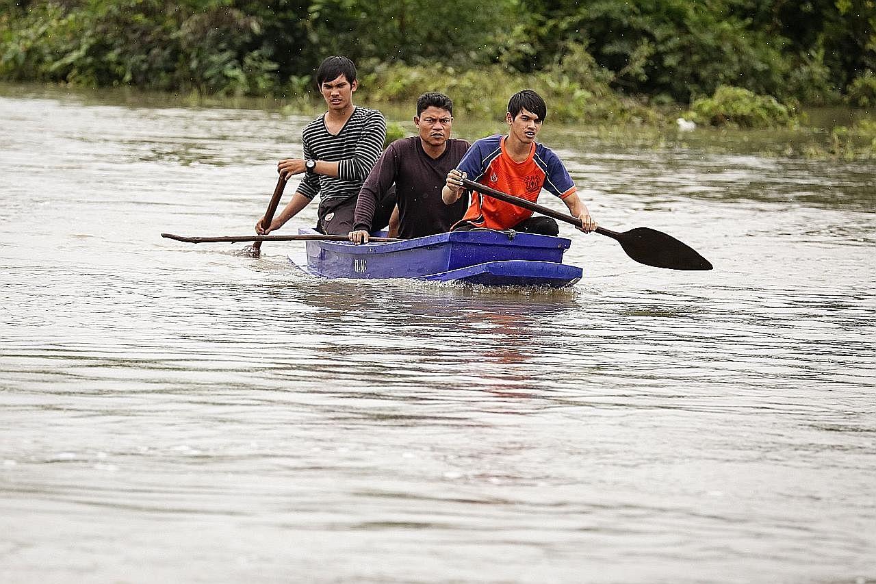 14 maut dalam banjir di selatan Thailand