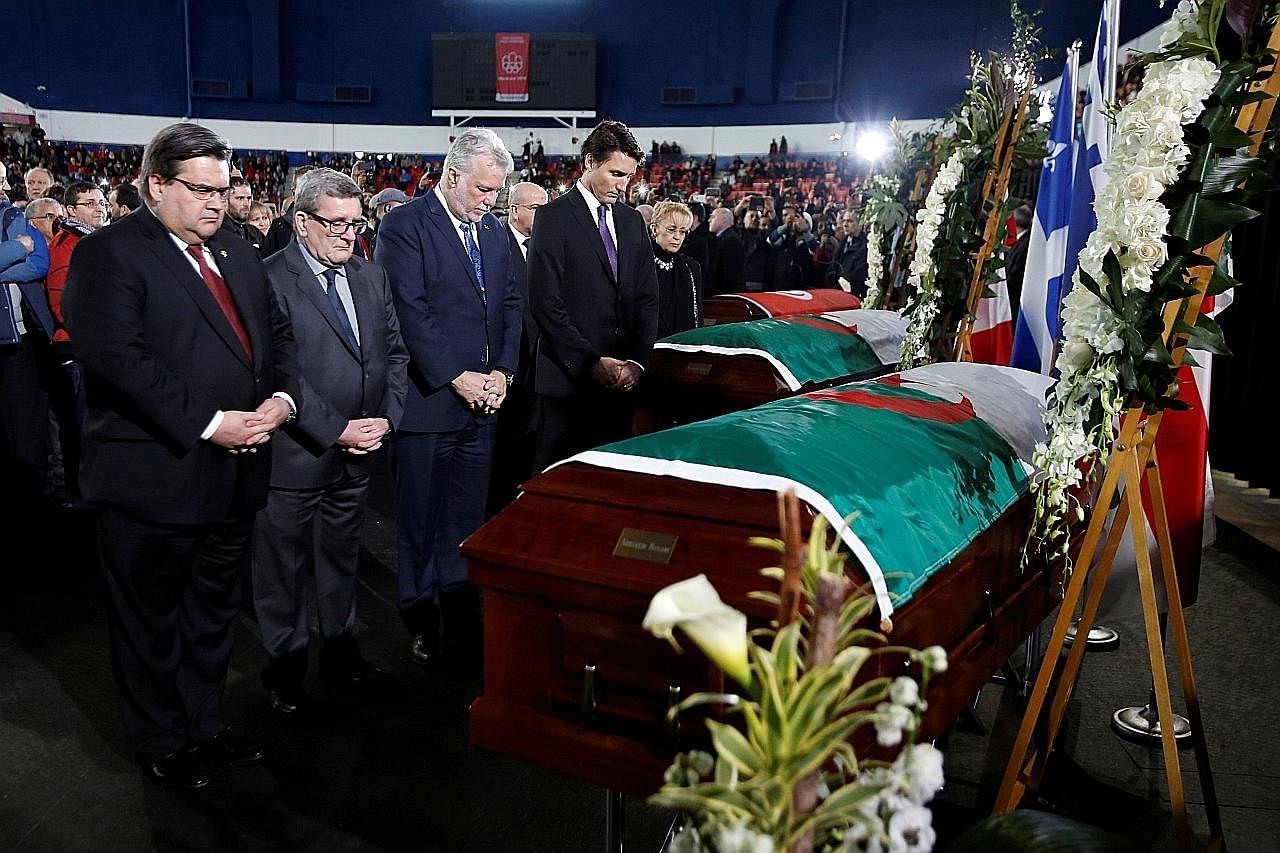 Trudeau sertai upacara pengebumian mangsa KES TEMBAKAN DI MASJID DI CANADA