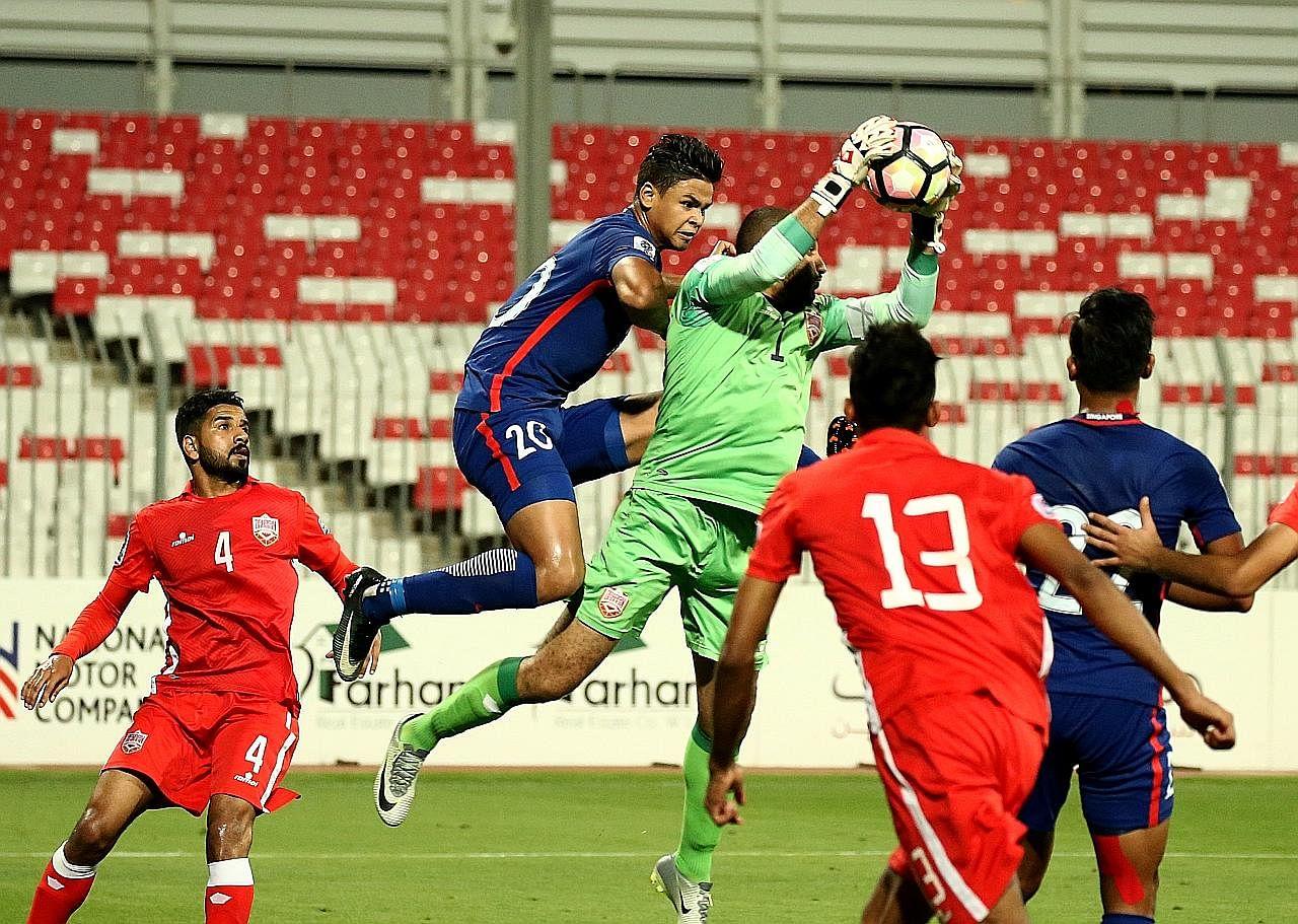 Singa pamer semangat juang tinggi untuk seri dengan Bahrain