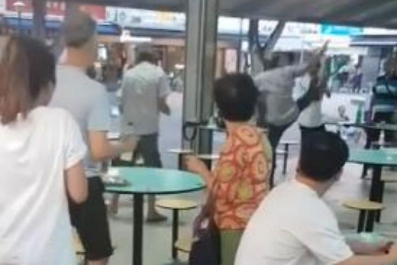 Two men, aged 61 and 64, arrested for fight in Toa Payoh Hawker Centre