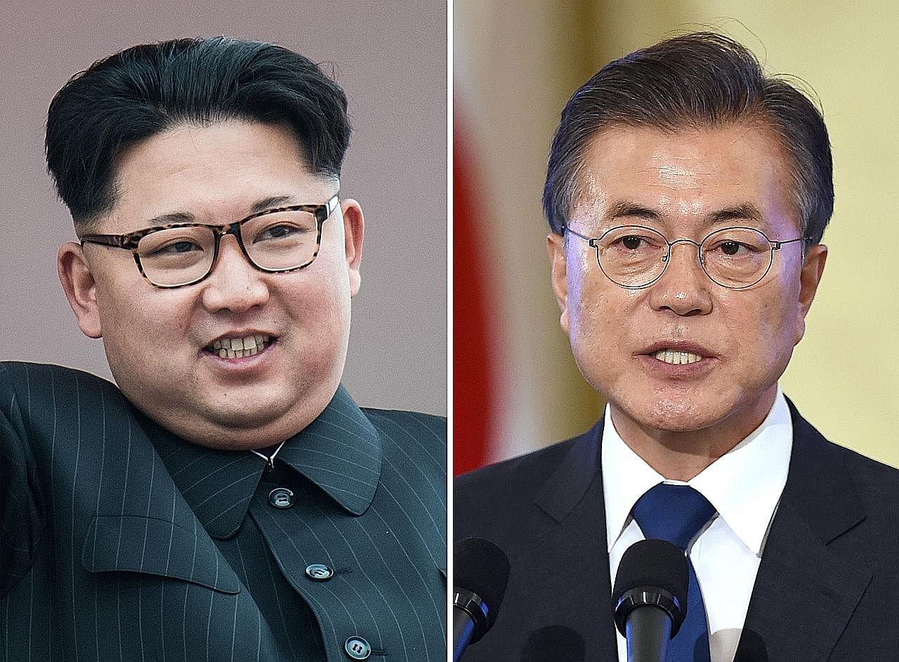 PERTEMUAN BERSEJARAH PEMIMPIN KOREA Kim Jong-un melintas masuk ke Korea Selatan