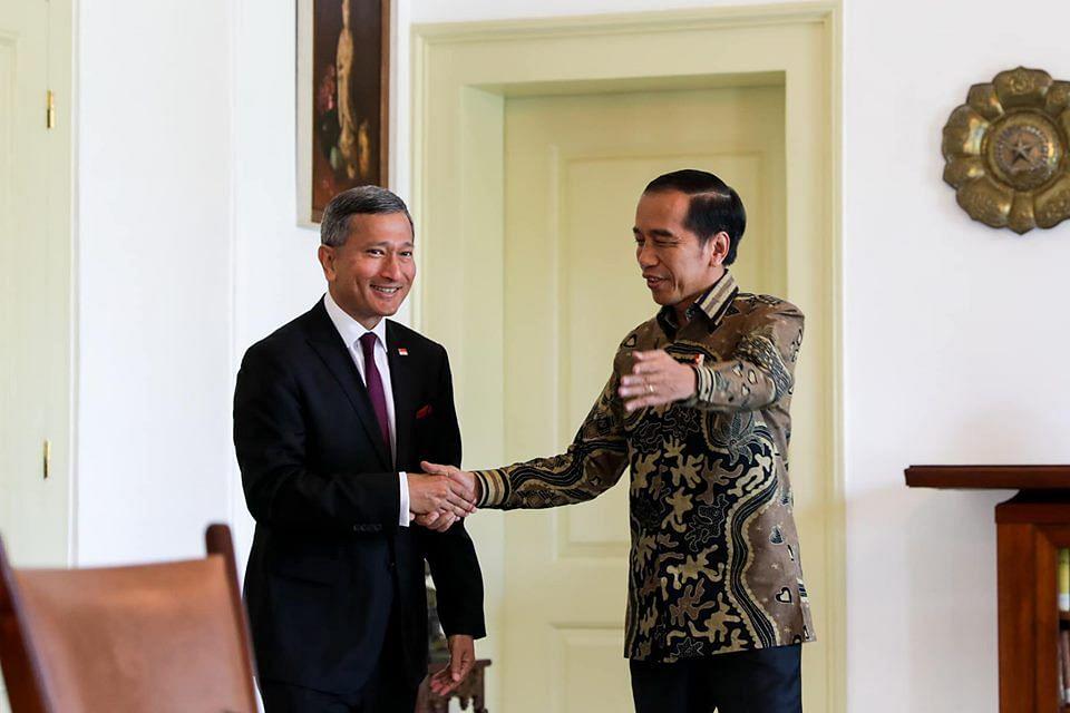 Vivian Balakrishnan Called on President Jokowi