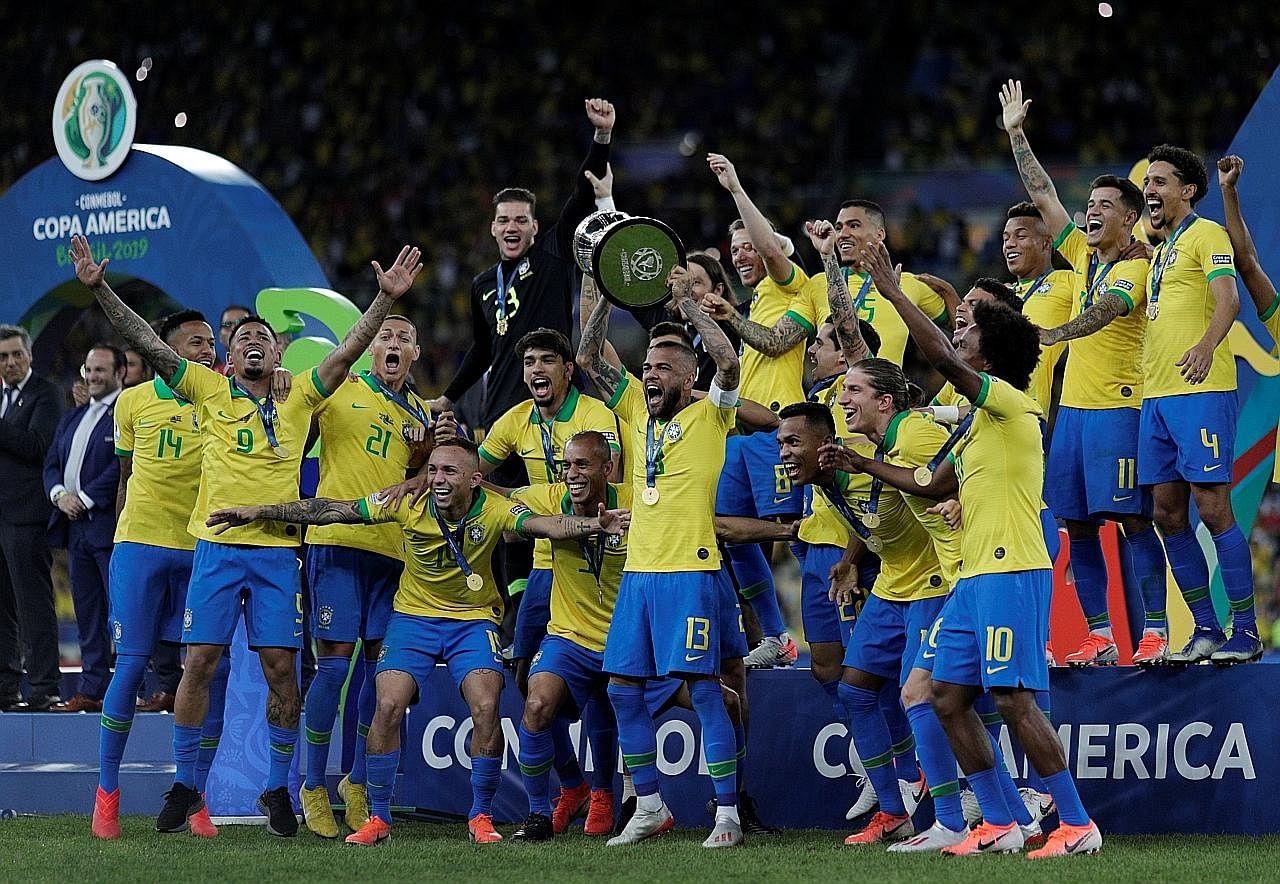 Brazil juara walau dengan 10 pemain