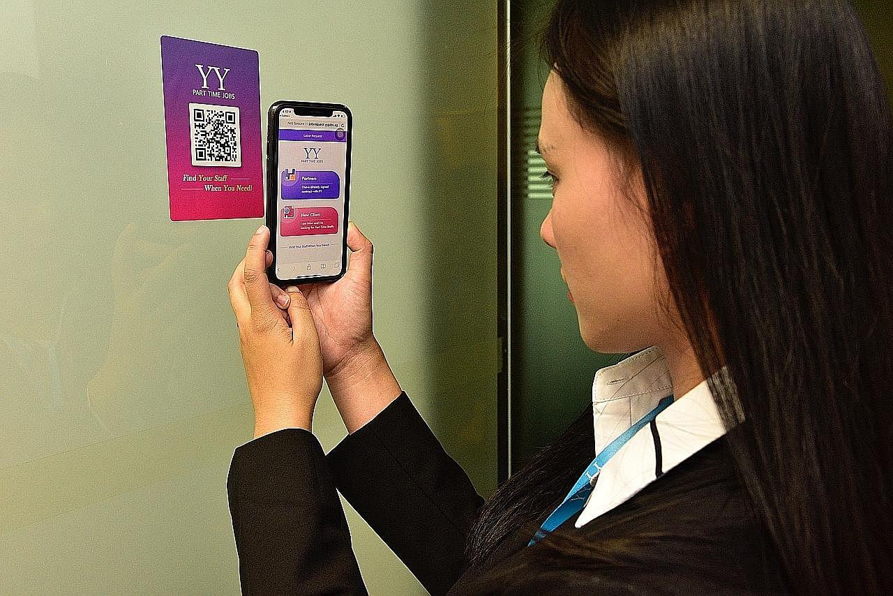 Aplikasi hubung pekerja sambilan dengan majikan dipertingkat