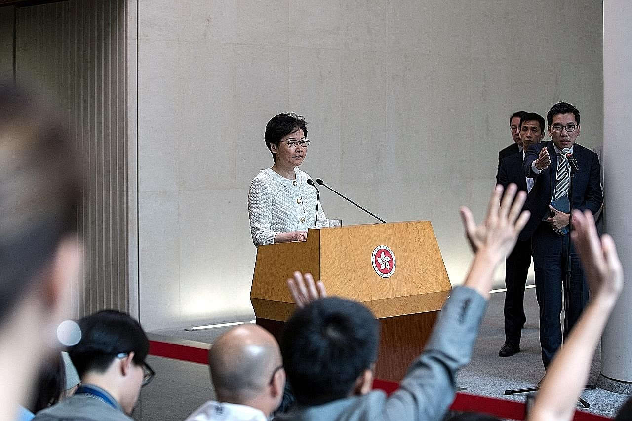 Carrie Lam: Peningkatan keganasan tidak akan hurai isu sosial