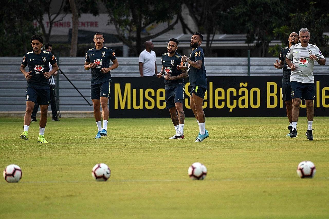 LAWATAN SEDUNIA BRAZIL Bintang Brazil ingin jadi legenda negara di Piala Dunia 2020