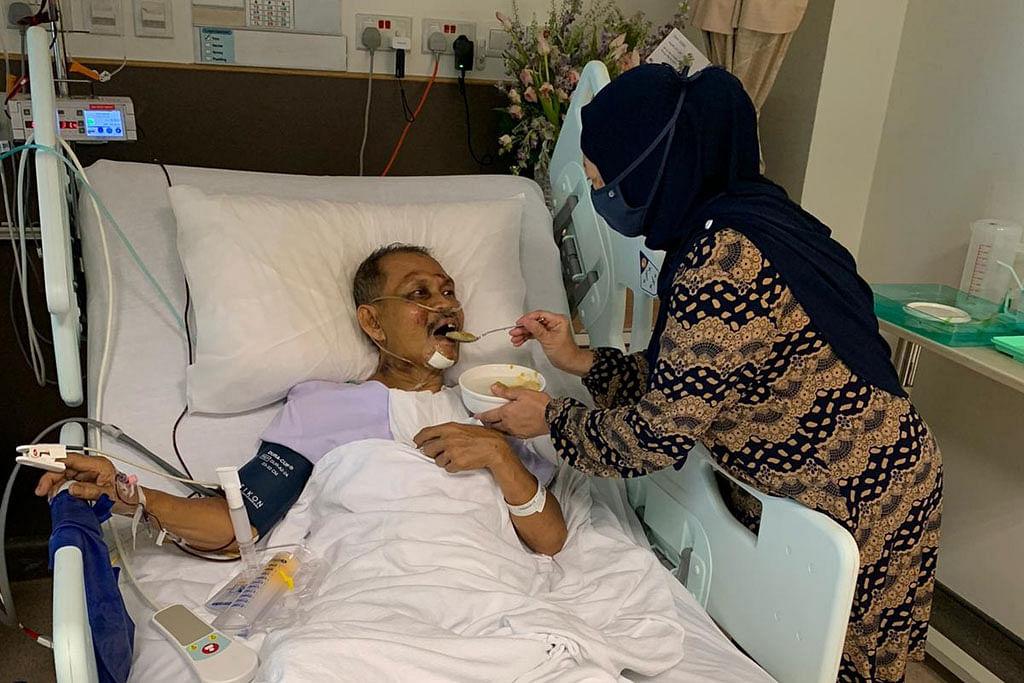 Suami jauh di hospital tetap dekat di hati isteri