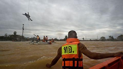 Banjir besar di selatan Thailand semakin buruk