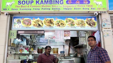 Generasi ketiga jayakan sup kambing Upper Boon Keng