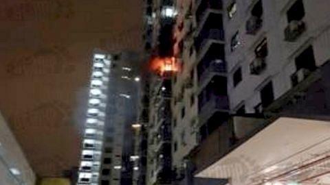 Kebakaran flat di Chinatown