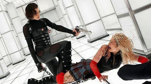 Tutup tirai sebagai heroin Resident Evil