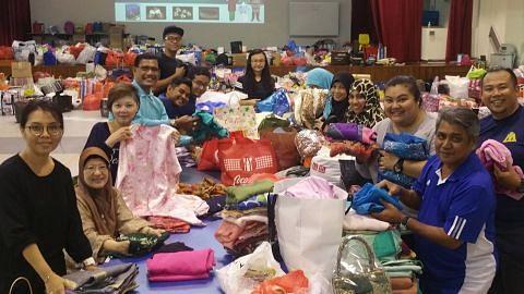 Sambutan baik derma pakaian Raya kepada CC Tampines West
