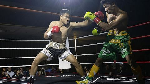 TINJU Ridhwan petinju pertama S'pura menjuarai WBA Asia