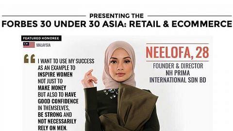 Neelofa tersenarai dalam 'Forbes 30 Under 30 Asia 2017'