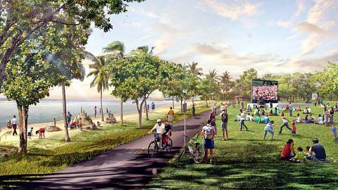 Laluan unik permudah berbasikal dan berjalan ke Taman Pasir Ris