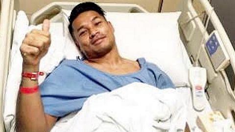 Hassan Sunny raya di hospital dek cedera dalam perlawanan BOLA SEPAK SETEMPAT