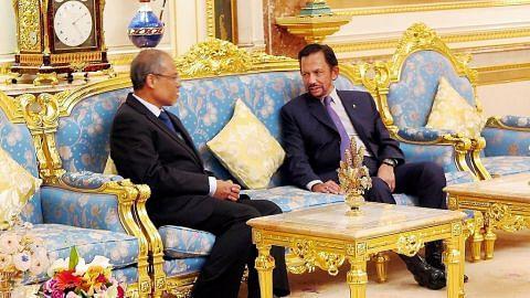 Masagos wakili S'pura ucap selamat ulang tahun kepada Sultan Hassanal Bolkiah