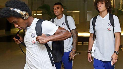 Pemain Chelsea dan Bayern Munich tiba di S'pura