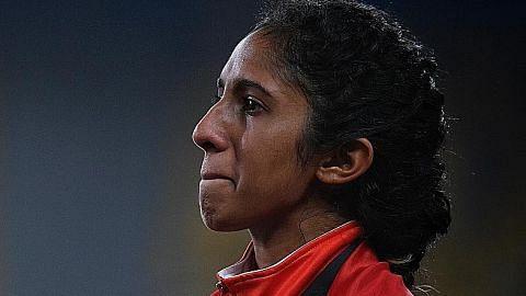 ATLETIK Air mata kecewa Shanti...
