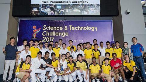 Sekolah Victoria juara cabaran sains dan teknologi Politeknik Nanyang