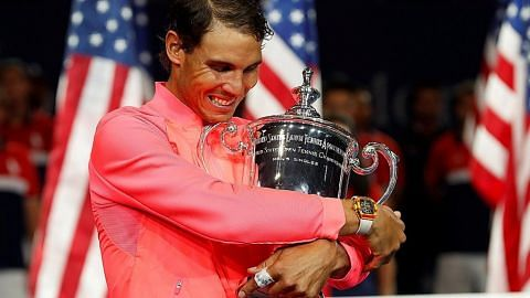 Nadal raih Grand Slam ke-16 dengan trofi Terbuka AS TENIS