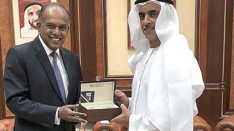 Shanmugam temui pemimpin UAE
