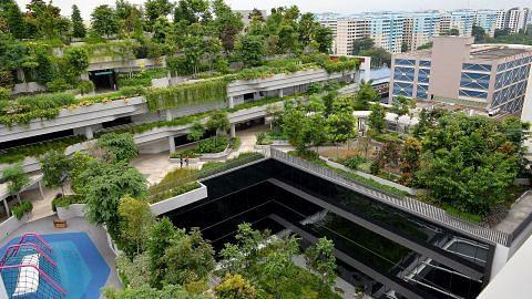 Lebih banyak ruang hijau di bangunan tinggi