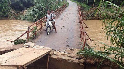 Banjir berterusan di Kelantan, utara Malaysia