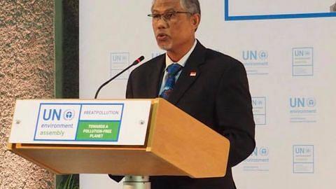 PERHIMPUNAN PERINGKAT TINGGI PBB BAGI SEKITARAN Masagos: Pembersihan Sungai Singapura contoh tangani isu sekitaran