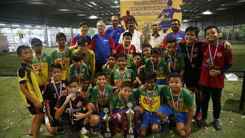 Tamil Murasu's futsal tournament 2018 at FutsalArena@Yishun