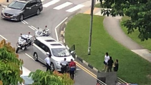 Elderly woman on e-bike taken to hospital after accident with car in Yishun
