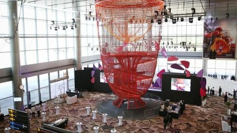 Anchored to both the ground and ceiling, Chandelier, as the new structure is called, is made of about 10km of rope, supported by about 15 tonnes of steel