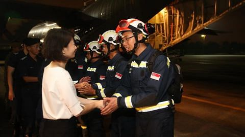 A 17-member SCDF contingent departed for Laos to aid relief efforts in Laos