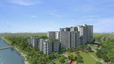 The 1,172-unit Punggol Point Cove is expected to be completed by 2023.