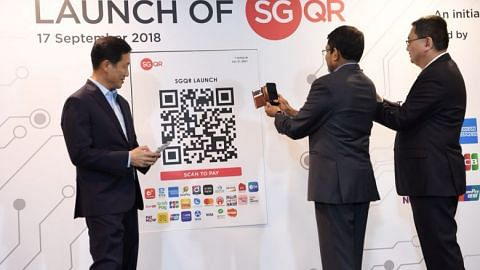 Universal SGQR code for cashless payments, interbank fund transfer system to be opened to non-banks