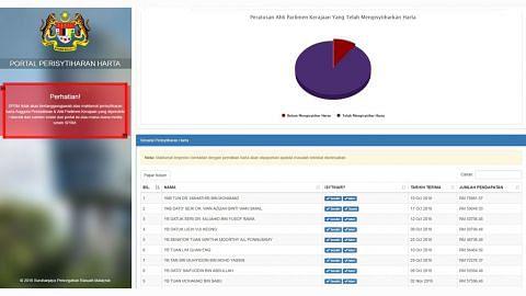 Laman dedah harta diisytihar AP, pegawai awam M'sia