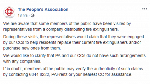 fire extinguisher People's Association