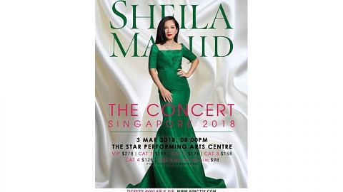 Sheila Majid bakal gegarkan The Star dengan lagu malar segar