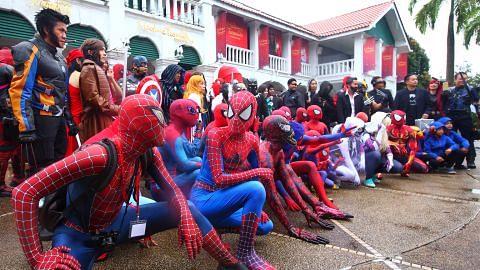 'Superhero'Marvel berkumpul di Sentosa
