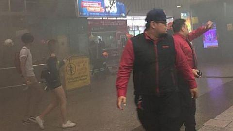 Asap dikesan di tangga bergerak stesen MRT Ang Mo Kio
