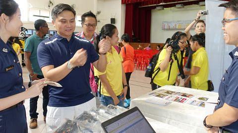 Promosi amalan selamat bagi penunggang dan pejalan kaki di Toa Payoh