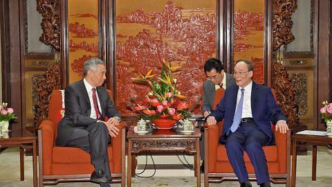 LAWATAN RASMI PERDANA MENTERI LEE HSIEN LOONG KE CHINA PM Lee: S'pura yakin China kekal terbuka dan sokong sistem dagangan bebas