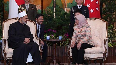Presiden Halimah, Imam Al-Azhar bincang luaskan kerjasama