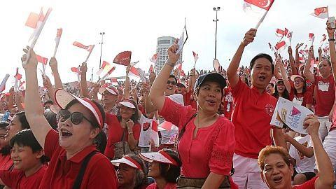 Yuk... kita hidupkan semangat Singapura!