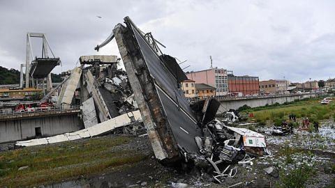 JAMBATAN ROBOH DI ITALY Usaha giat cari mangsa selepas 35 terkorban
