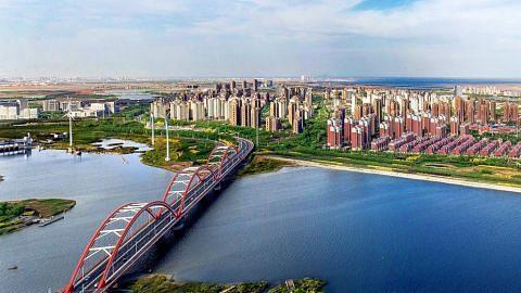 Lawrence Wong lawat China rai ulang tahun Bandar-Eko Tianjin