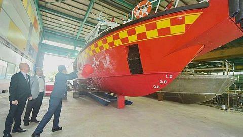 SCDF lancar kapal bomba tindakan pantas